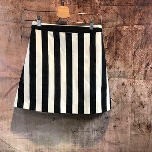 Alice + Olivia Vertical Stripe Mini Skirt